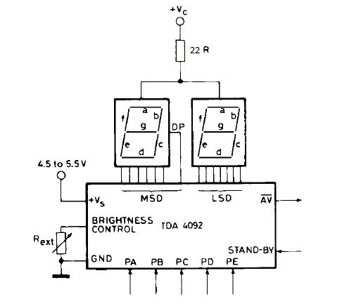 decoder circuit seven segment 5 bit simple schematic diagram