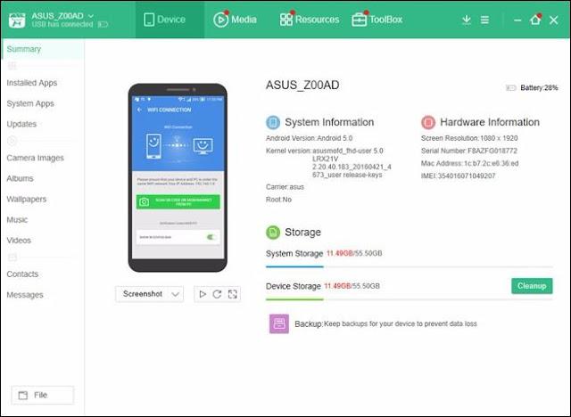 7 Desktop Manager Pengelola Perangkat Android Dari PC