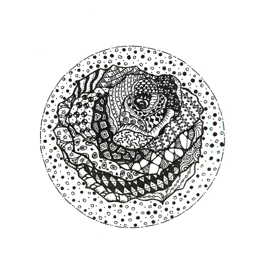Zentangle Doodle - Rose | Brushnpaper