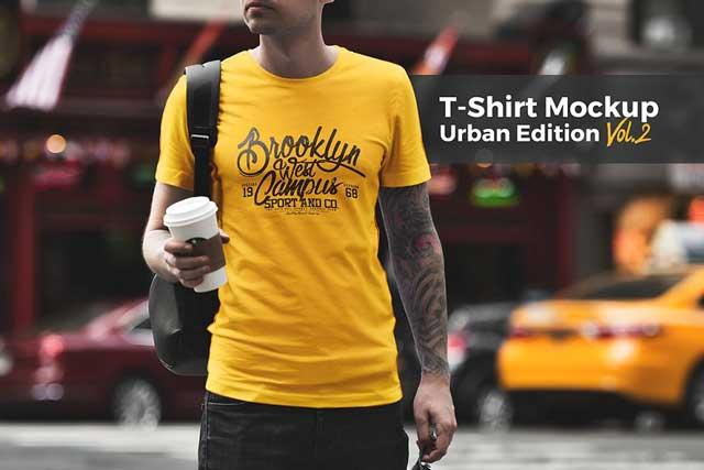 T-Shirt Mockup  Urban Edition V2