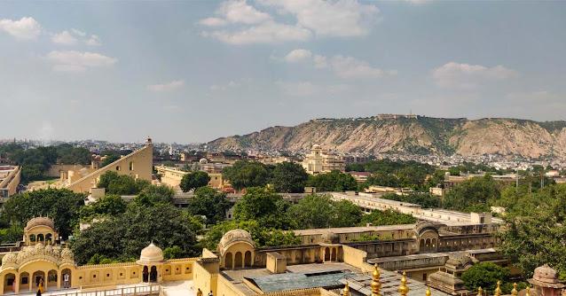 Jantar Mantar from the top of Hawa Mahal.