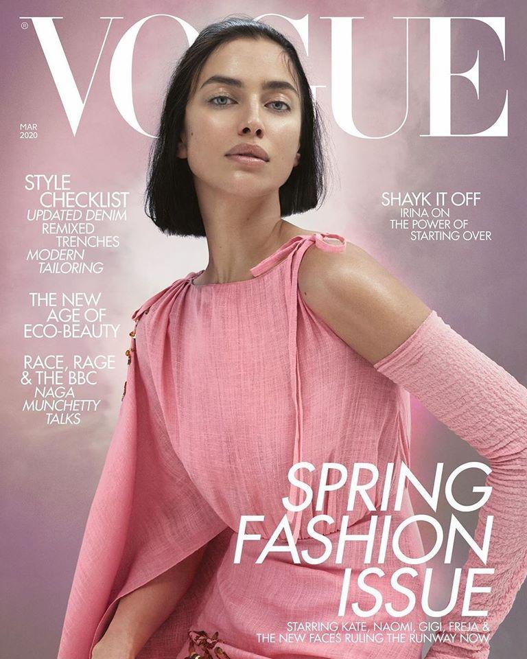 Irina Shayk Covers The March Issue Of British Vogue