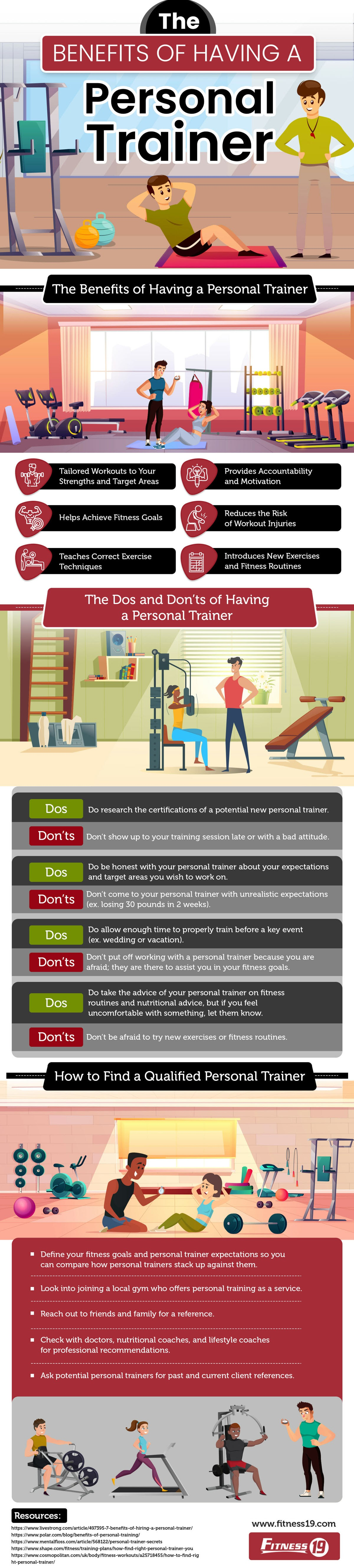 The Benefits of Having a Personal Trainer #infographic