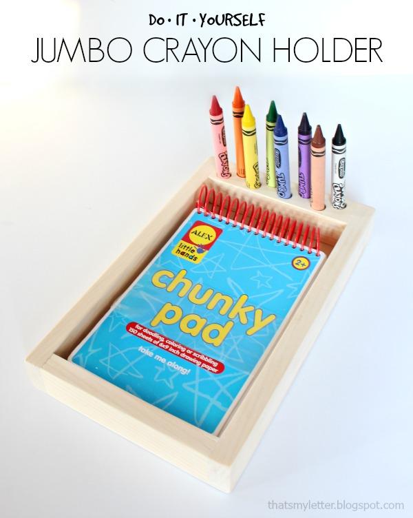 diy jumbo crayon holder free plans