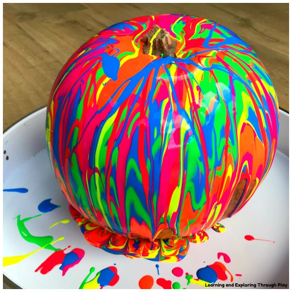 Carve Free Neon Painted Pumpkins
