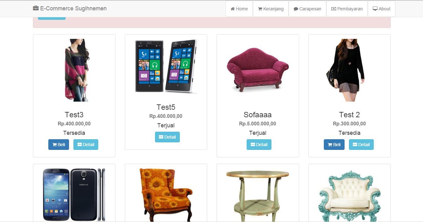 25+ Tutorial Dan Source Code Toko Online / eCommerce dengan PHP dan
