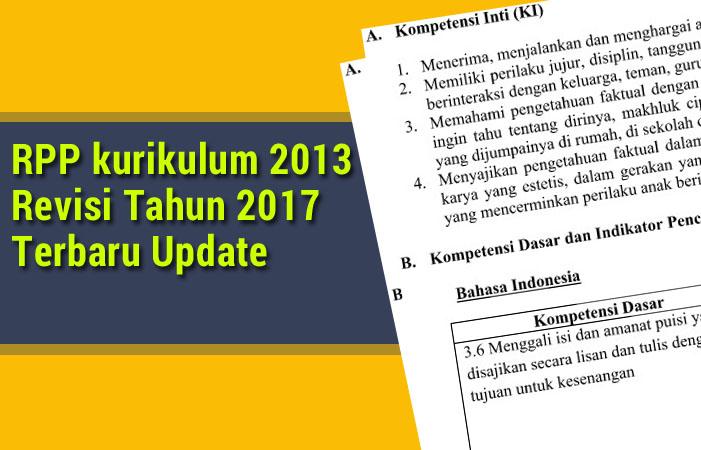 RPP kurikulum 2013 Revisi 2017