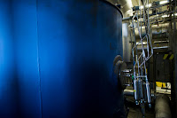 A fuel cell used to capture and sequester carbon emissions, at the headquarters of FuelCell Energy in Danbury, Conn. (Credit: Christopher Capozziello for The New York Times) Click to Enlarge.