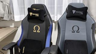 Secretlab gaming omega chair in royal and ash
