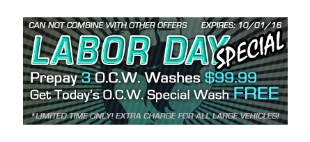 September Carwash Deals
