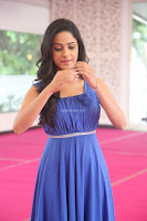 Divya Nandini stunning Beauty in blue Dress at Trendz Exhibition Launch ~  Celebrities Galleries 074.JPG