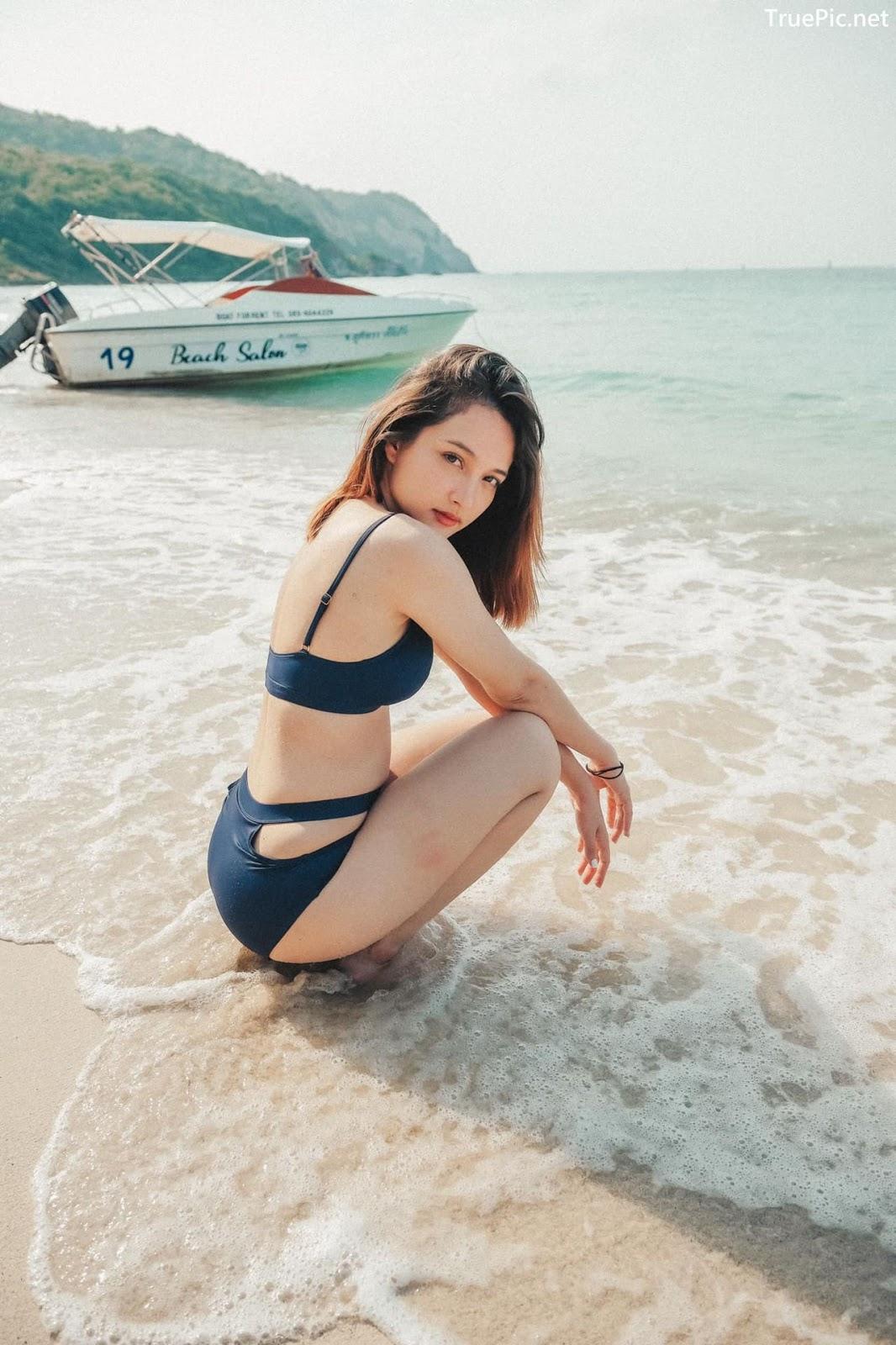 Image Thailand Model - Catherina Nybraaten - Dark Blue Bikini - TruePic.net - Picture-5