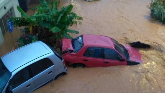 «Πνίγηκε» η Κρήτη από την κακοκαιρία - Μεγάλες ζημιές και δρόμοι «ποτάμια»