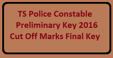Telangana Police Exam Code Key Wise A, B, C and D, Paper 1 key and Paper 2 key with Answers and Expected Cut Off Marks. Police AR/SARCPL/ TSSP/ SPF/ Firemen Police Jobs Exam Key. Telangana State Level Police Recruitment Board (TSLPRB) successfully conducted written examination for the recruitment of Police Constable posts on 25-04-2016 at https://www.tslprb.in/./2016/04/ts-police-constable-preliminary-key-2016-cutoff-marks-final-key.html