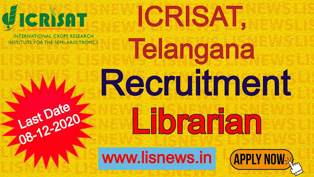 Academic Librarian at ICRISAT, Telangana