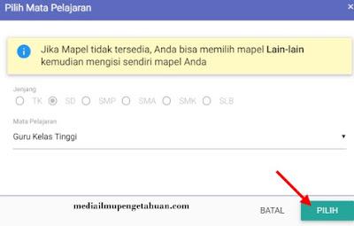 Pilih Mapel