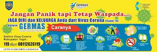 Design Banner Spanduk Virus Corona (Covid 19) Free CDR Format