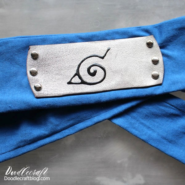 Make the perfect blue Naruto Hidden Leaf Village Ninja Headband for Halloween costume or Comic Convention cosplay geekery.