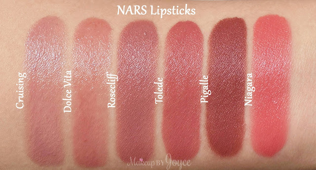 Nars Lipstick Niagara Pigalle Swatches