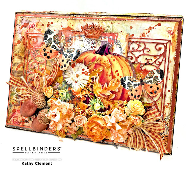 Kathy Clement Copper and Cream Pumpkin Card for Really Reasonable Ribbon
