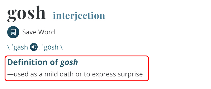Penjelasan Gosh