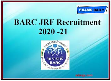 BARC JRF RECRUITMENT 2021