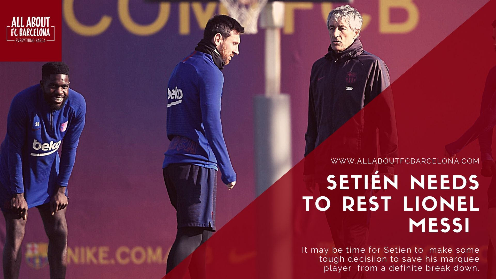 Setien and Messi