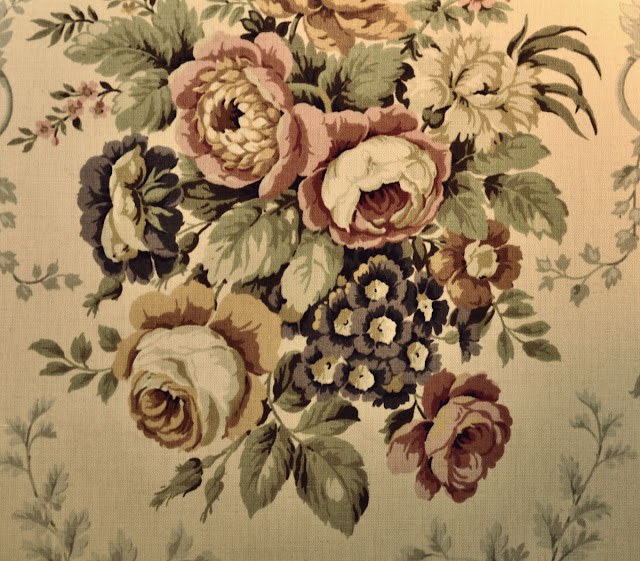 Vintage style linen roses