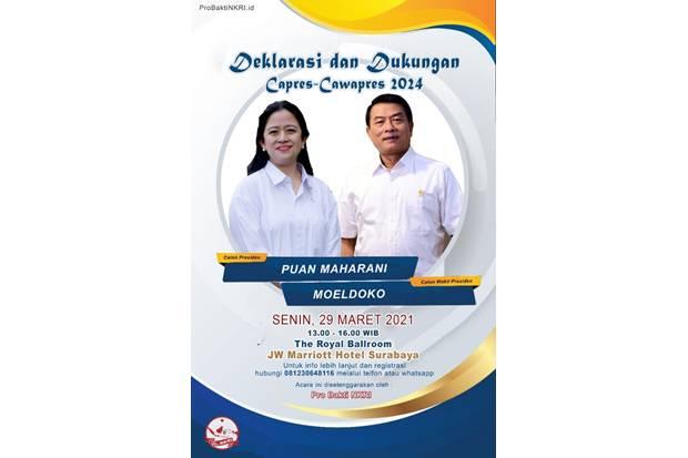 Beredar Poster Deklarasi Puan-Meoldoko 2024, Kubu KLB Bilang Begini