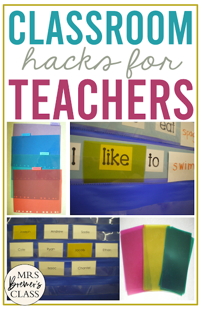 DIY highlighting cards to use in the pocket chart for primary classrooms