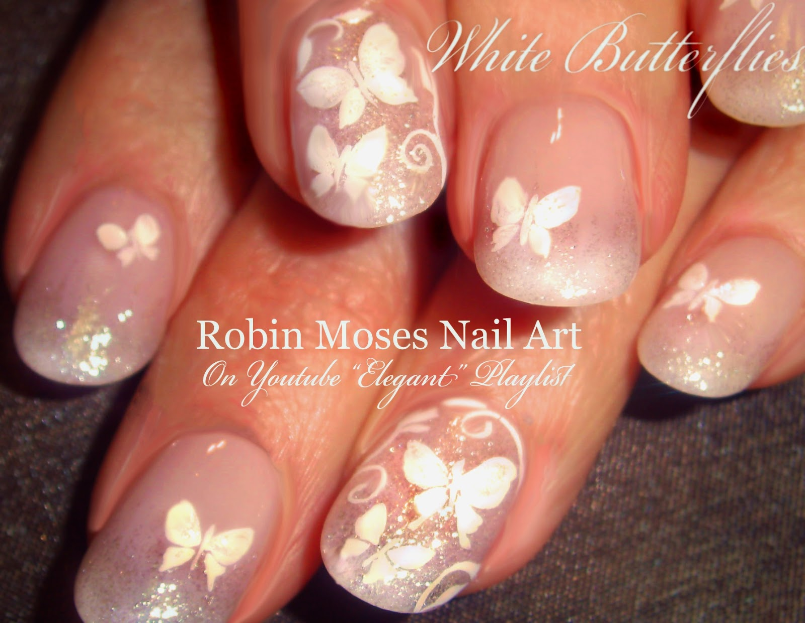 Nail Art by Robin Moses: Butterfly Nails! \