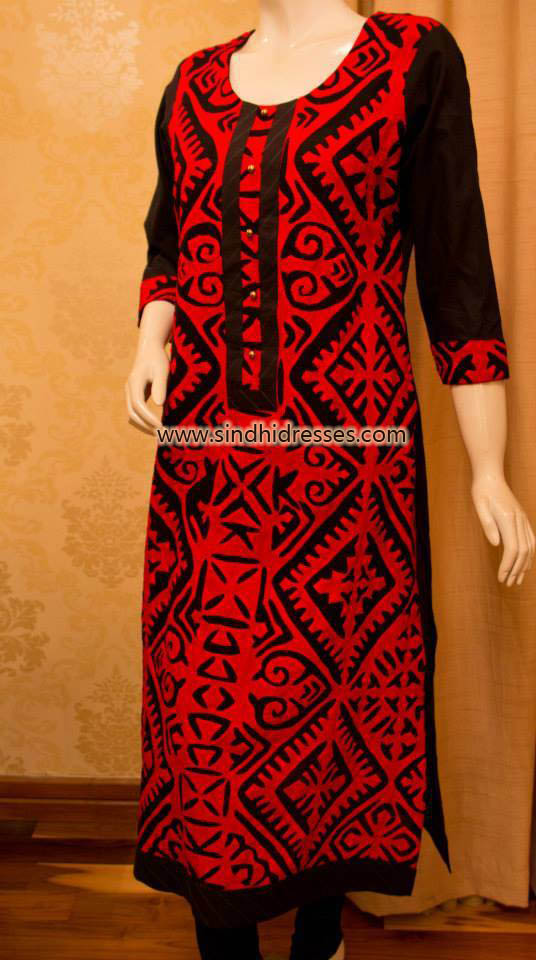 applique work dresses