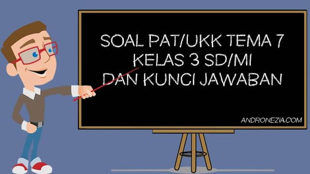 Soal PAT/UKK Tema 7 Kelas 3 Tahun 2021