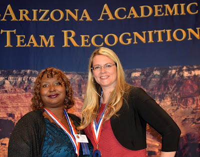Image of Vanessa Williams and Shawna Daniels standing in front of ALL-AZ banner.