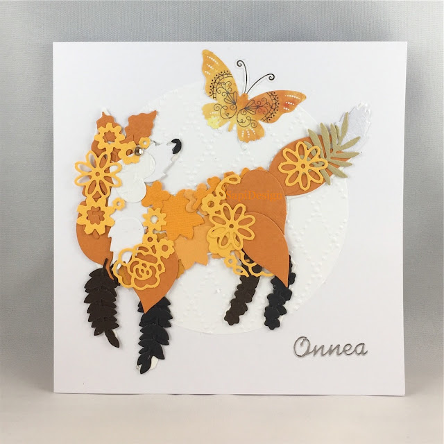 assembled from pieces fox card SapiDesign