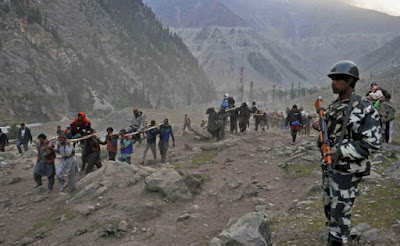 Amarnath pilgrim killed in Kashmir road accident