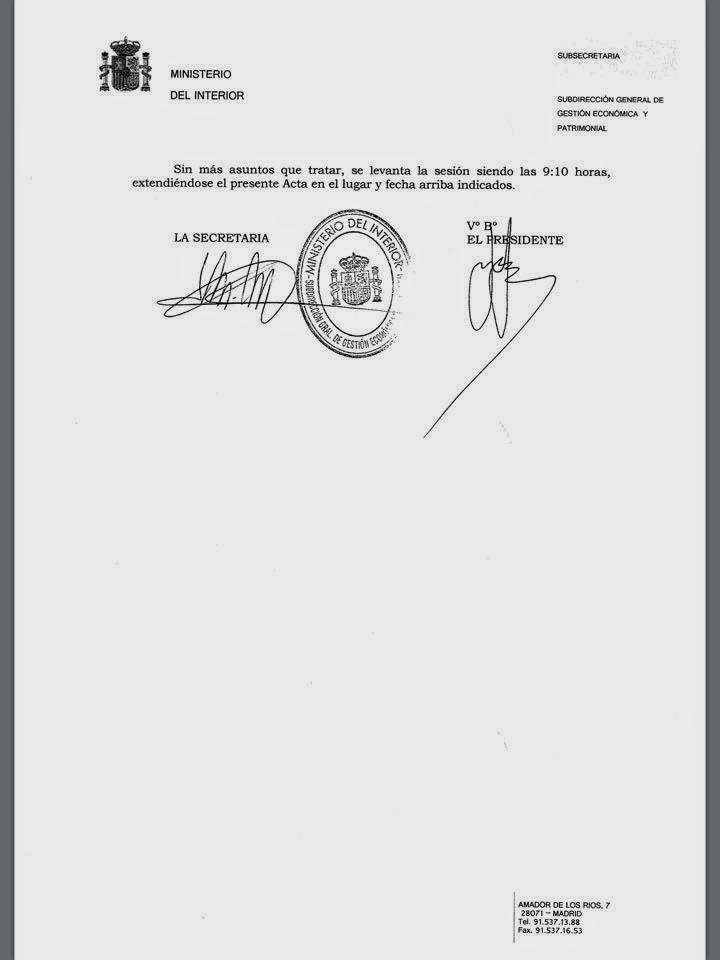 CC.OO. PROSEGUR MADRID: Empresas adjudicatarias de los