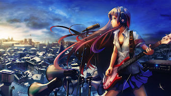 Anime, Girl, Singing, Guitar, 4K, 3840x2160, #40