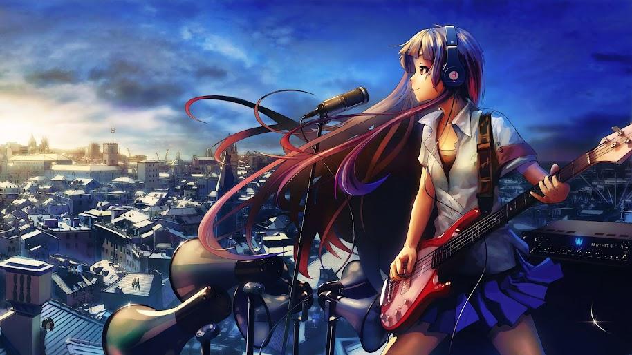 Anime, Girl, Singing, Guitar, 4K, 3840x2160, #40