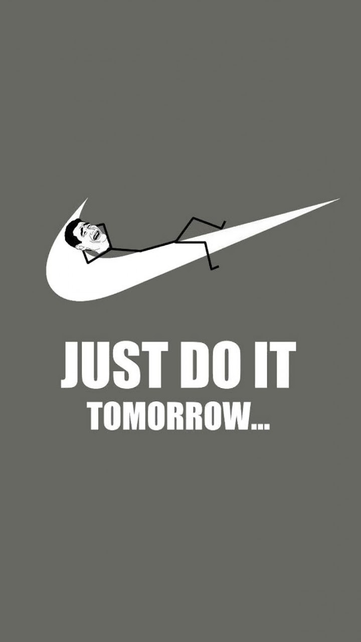 just do it tomorrow meme galaxy note hd wallpaper