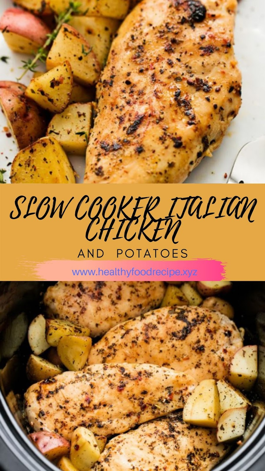 SLOW COOKER ITALIAN CHICKEN & POTATOES