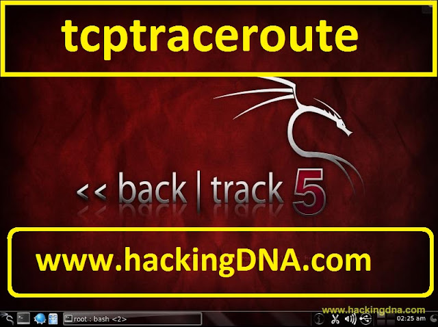 tcptraceroute on backtrack 5