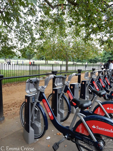 Cycling through London, and a childhood confession