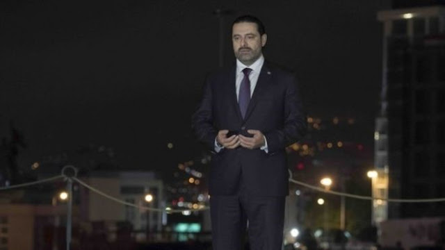 Soon after landing in Lebanon Mr. Hariri prayed at the grave of his father, the former PM Rafik al-Hariri, who was assassinated in 2005