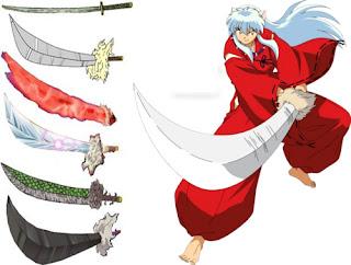 bentuk pedang tessaiga inuyasha