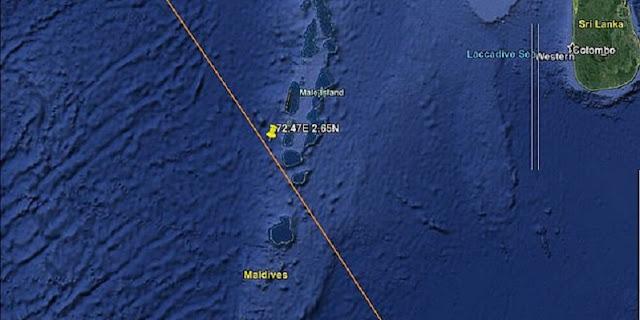 China: Roket Long March 5B Memasuki Atmosfer Bumi Di Atas Maladewa