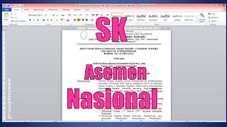 Contoh SK Panitia Asesmen Nasional (AN)