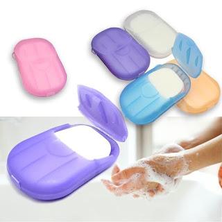 Sabun Kertas Praktis / Travelling Soap / Mini Washing Hand Bath Travel