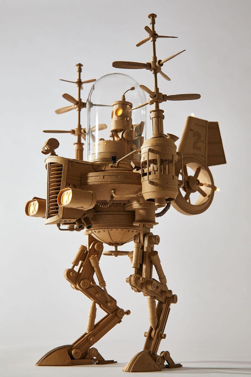 Asombrosas esculturas de cartón, el espectacular trabajo de Greg Olijnyk
