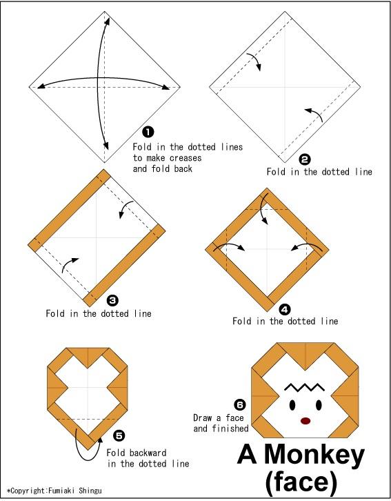 වදුරෙකුගේ මුහුණ හදමු (Origami Monkey(Face)) - Your Choice Way